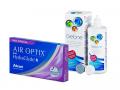Air Optix plus HydraGlyde Multifocal (6 šošoviek) + roztok Gelone 360 ml