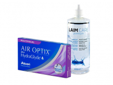 Air Optix plus HydraGlyde Multifocal (6 šošoviek) + roztok Laim-Care 400 ml