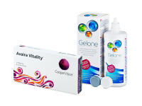 Avaira Vitality (6 šošoviek) + roztok Gelone 360 ml
