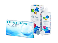 Bausch + Lomb ULTRA (3 šošovky) + roztok Gelone 360 ml