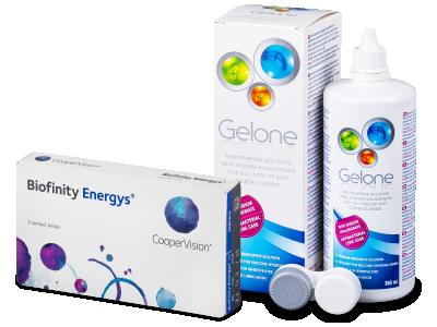 Biofinity Energys (3 šošovky) + roztok Gelone 360 ml