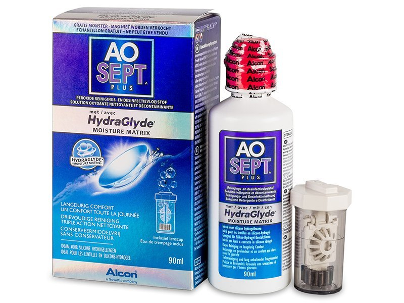 Čistiaci roztok - AO SEPT PLUS HydraGlyde 90 ml