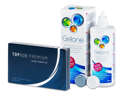 TopVue Premium (6šošoviek) +roztok Gelone 360ml