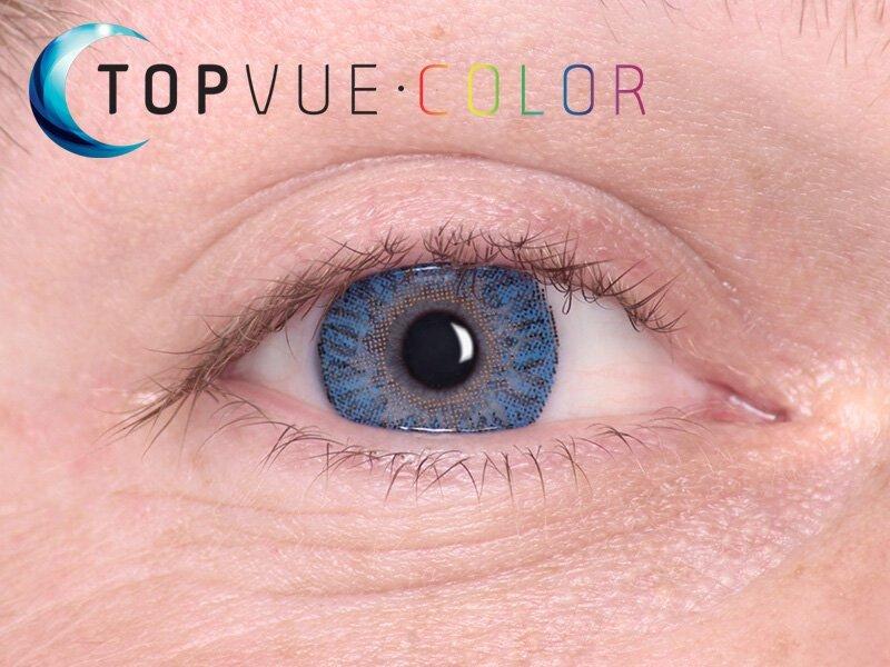 True Sapphire na modrom oku
