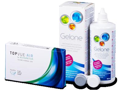 TopVue Air for Astigmatism (3šošovky) + roztok Gelone 360 ml