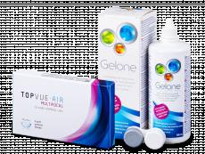 TopVue Air Multifocal (3šošovky) +roztok Gelone 360 ml