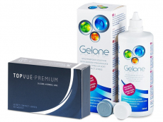 TopVue Premium (12 šošoviek) + roztok Gelone 360 ml