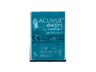 Acuvue Oasys with Transitions (6 šošoviek) - Vzhľad blistra so šošovkou