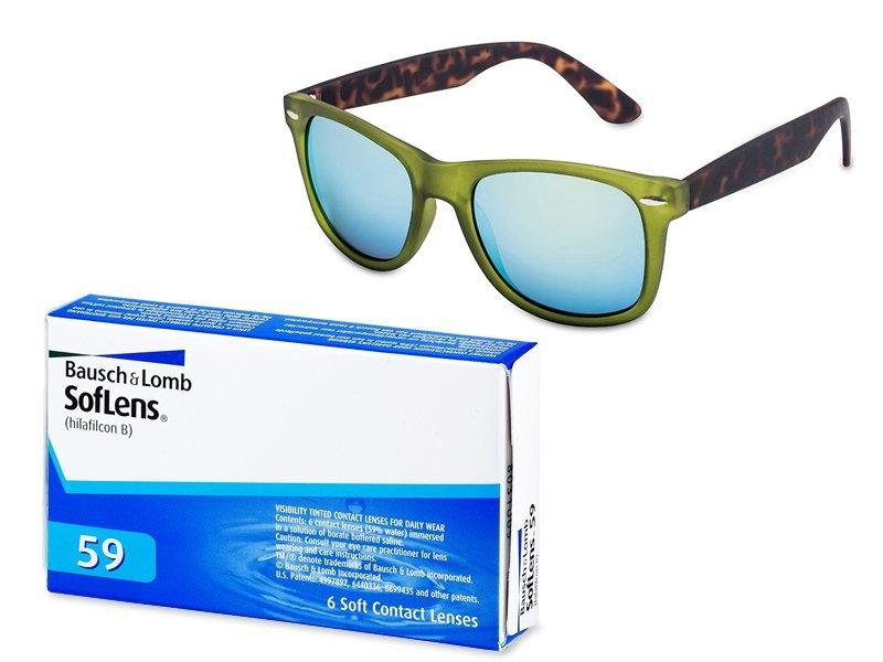 a665eedd1 SofLens 59 (6 šošoviek) + Slnečné okuliare Stingray Azure