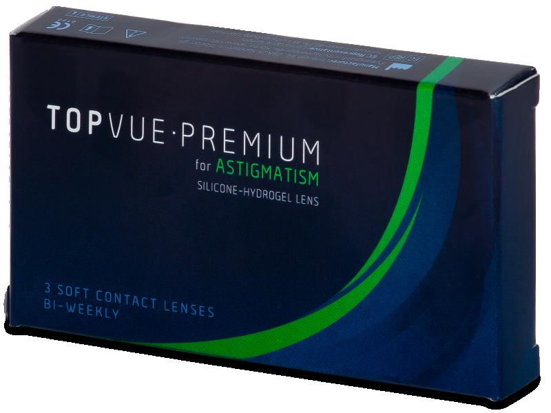 TopVue Premium for Astigmatism (3šošovky) - Torické kontaktné šošovky