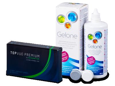 TopVue Premium for Astigmatism (3šošovky) +roztok Gelone 360ml