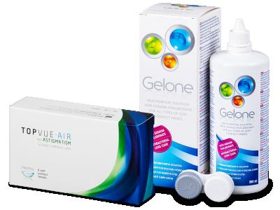 TopVue Air for Astigmatism (6šošoviek) + roztok Gelone 360 ml