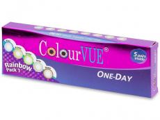 Farebné kontaktné šošovky - ColourVue One Day TruBlends Rainbow - nedioptrické (10šošoviek)