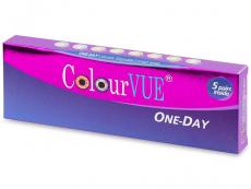Farebné kontaktné šošovky - ColourVue One Day TruBlends - dioptrické (10 šošoviek)