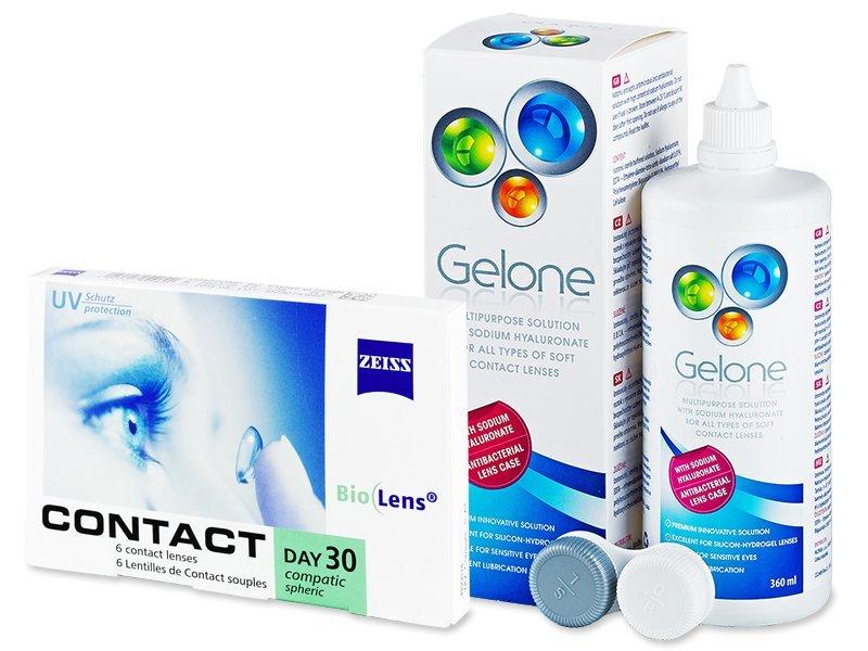 Carl Zeiss Contact Day 30 Compatic (6 šošoviek) + roztok Gelone 360ml - Výhodný balíček