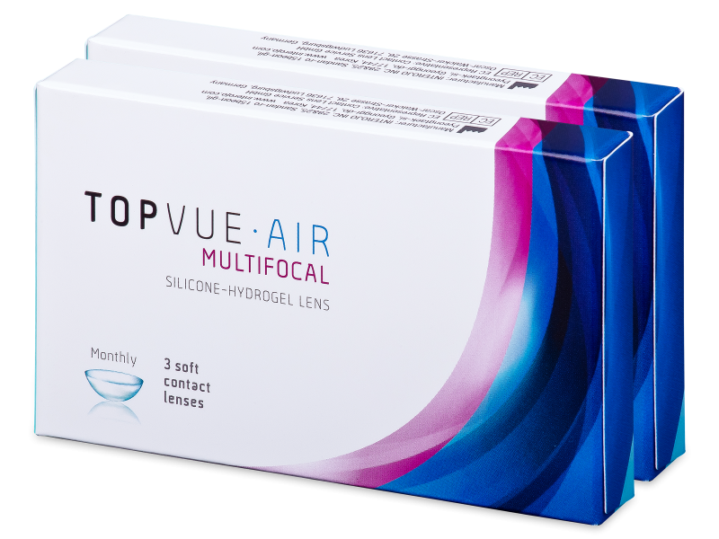 TopVue Air Multifocal (6 šošoviek) - Multifokálne kontaktné šošovky