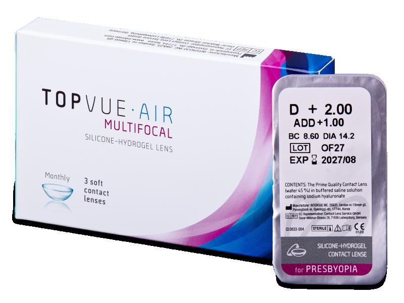 TopVue Air Multifocal (1šošovka) - Multifokálne kontaktné šošovky