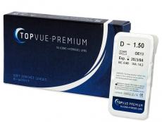 Kontaktné šošovky TopVue - TopVue Premium (1šošovka)