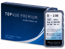 TopVue Premium (1šošovka) - Štrnásťdenné kontaktné šošovky