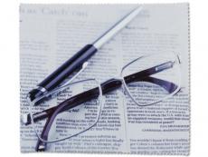 Príslušenstvo - Čistiaca handrička na okuliare - noviny a okuliare