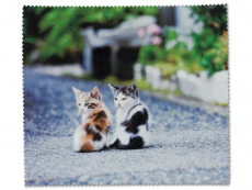 Starostlivosť o okuliare - Čistiaca handrička na okuliare - mačiatka