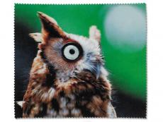 Starostlivosť o okuliare - Čistiaca handrička na okuliare - sova