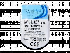TopVue Plus (1 šošovka) - Vzhľad blistra so šošovkou