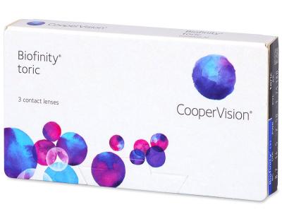 Biofinity Toric (3šošovky) - Torické kontaktné šošovky