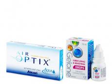 Air Optix Aqua (6 šošoviek) + očné kvapky Gelone