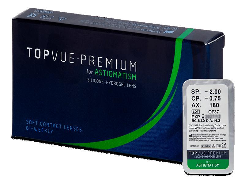 TopVue Premium for Astigmatism (1 šošovka) - Tórické kontaktné šošovky