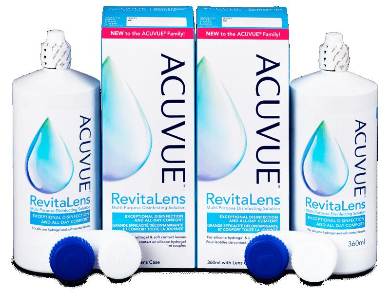 Roztok Acuvue RevitaLens 2x 360 ml  - Výhodné dvojbalenie roztoku