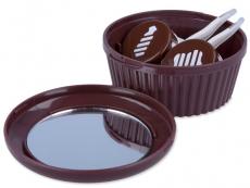 Puzdrá a ostatné - Kazeta Muffin - hnedá