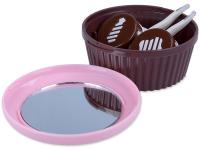 Kazeta so zrkadielkom Muffin – ružová