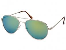 Slnečné okuliare - Slnečné okuliare Silver Pilot - Blue/Green