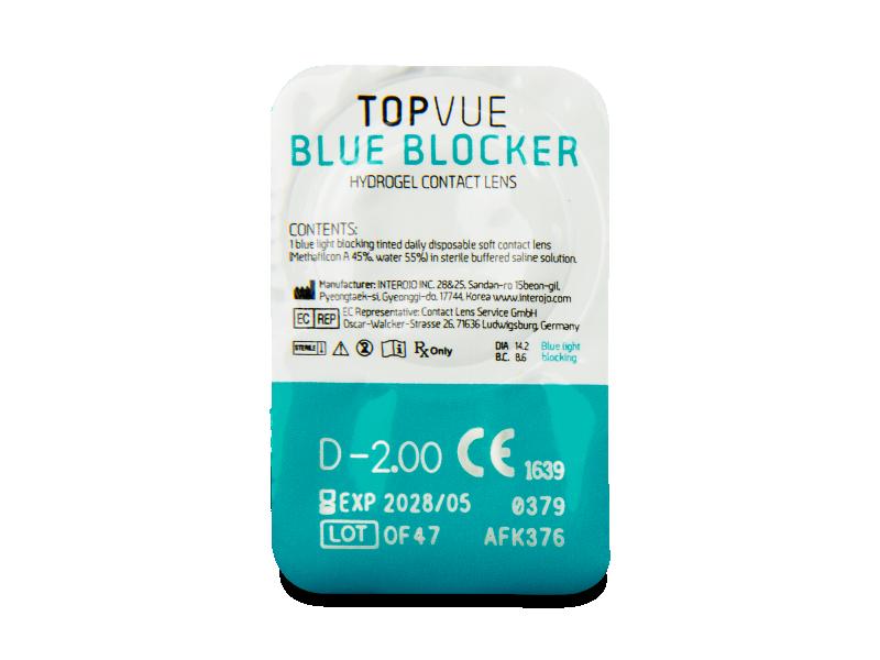 TopVue Blue Blocker (5 šošoviek) - Vzhľad blistra so šošovkou