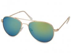 Slnečné okuliare dámske - Slnečné okuliare Gold Aviator - Blue/Green