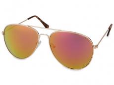 Slnečné okuliare - Slnečné okuliare Gold Pilot - Pink/Orange
