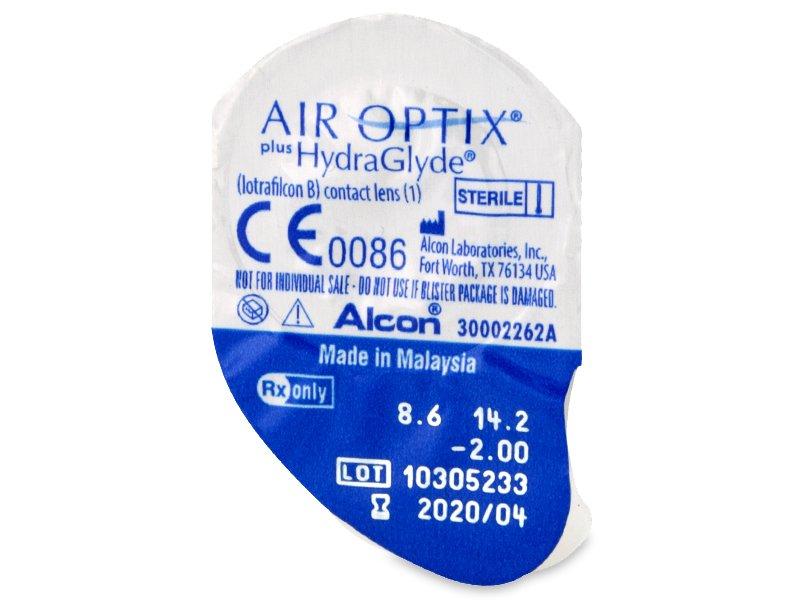 Vzhľad blistra so šošovkou - Air Optix plus HydraGlyde (6šošoviek)