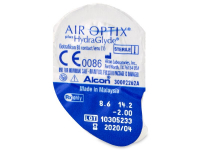 Air Optix plus HydraGlyde (3šošovky) - Vzhľad blistra so šošovkou