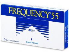 Mesačné kontaktné šošovky - Frequency 55 (6šošoviek)
