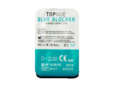 TopVue Blue Blocker (5párovšošoviek) - Vzhľad blistra so šošovkou