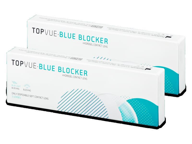 TopVue Blue Blocker (5párovšošoviek) - Jednodenné kontaktné šošovky