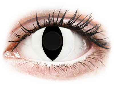 CRAZY LENS - Cat Eye White - nedioptrické jednodenné (2 šošovky)