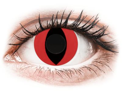 CRAZY LENS - Cat Eye Red - nedioptrické jednodenné (2 šošovky)