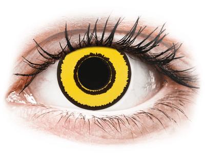 CRAZY LENS - Yellow Twilight - dioptrické jednodenné (2 šošovky)
