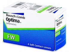 Kontaktné šošovky Bausch and Lomb - Optima FW štvrťročné (4šošovky)