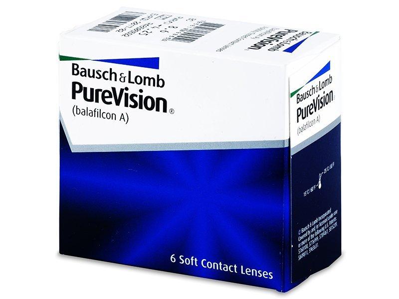 PureVision (6šošoviek) - Mesačné kontaktné šošovky - Bausch and Lomb