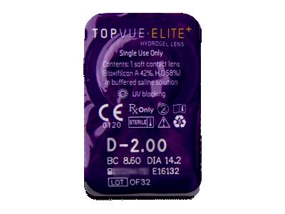 TopVue Elite+ (30šošoviek) - Vzhľad blistra so šošovkou