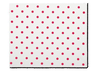 Čistiaca handrička na okuliare - červené bodky