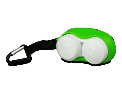 Puzdro na šošovky s karabínou zelené